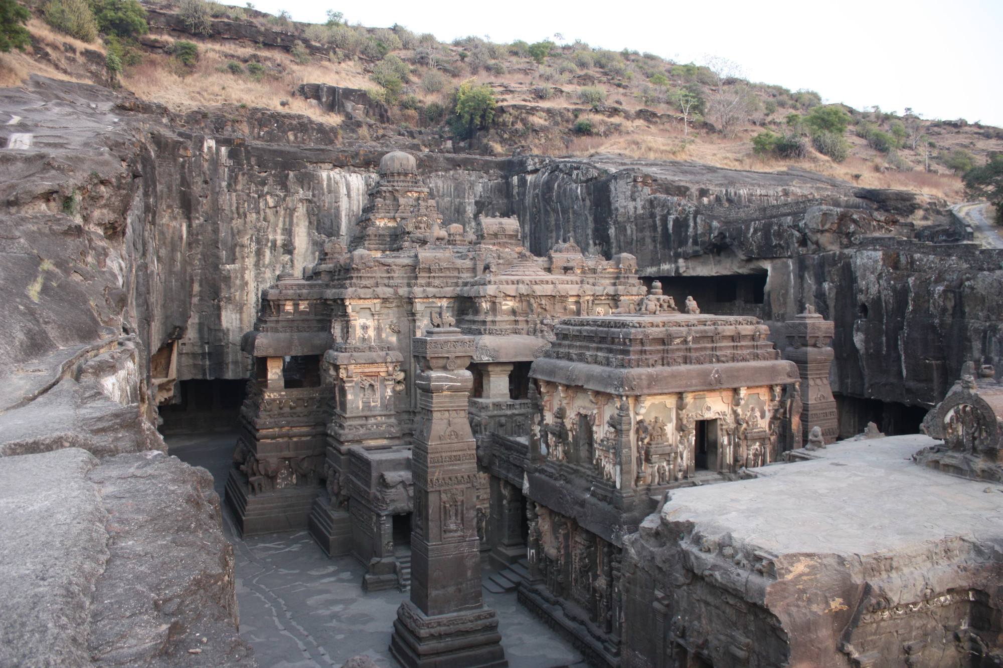 Ellora Temple -  The majectic carving believed to be carved out of a single stone